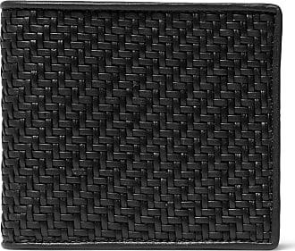 Ermenegildo Zegna Pelletessuta Leather Billfold Wallet - Black