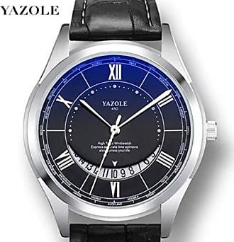 Yazole Relógio Masculino de Luxo Yazole D410 Pulseira de Aço e Couro (6)