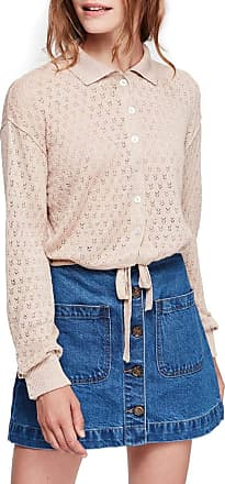 Free People Betty Tie Front Sweater, Size X-Small - Beige