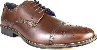 Redtape Claydon Mens Brown Leather Formal Lace-Up Shoes