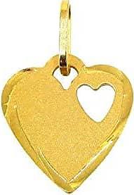 Prado Joias Pingente Em Ouro 18k Coração Placa