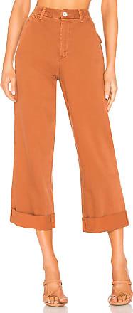 Free People On My Mind Wide Leg Pant in Burnt Orange