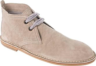 c82f28a781f Brunello Cucinelli Womens Beige Leather Lace Up Desert Boots