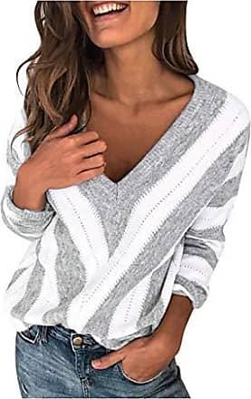 Damen Pullover Pulli Größe 34 36 38 creme weiß beige Strickpulli lang mit Spitze