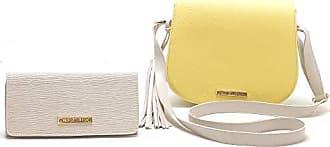 Victor Valência Kit com Bolsa Transversal e Carteira - Amarelo