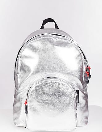 Alexander McQueen Metallic Leather Backpack with Studs Größe Unica