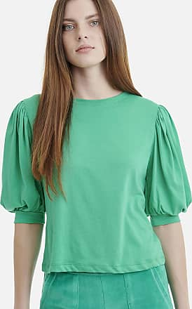Sugarfree Emerald fashion top with puff sleeves
