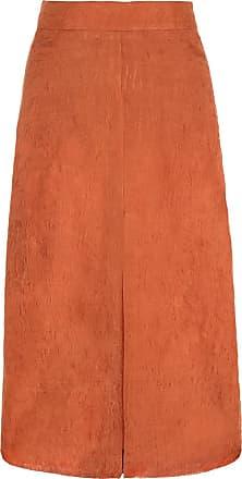 The Crocale Tuba Silk Midi Skirt Blush