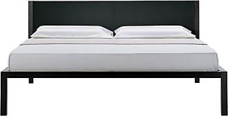ZANOTTA Design Unanotte Bed Grey-Varnished Oak & Pelle Nappa Leather Super King