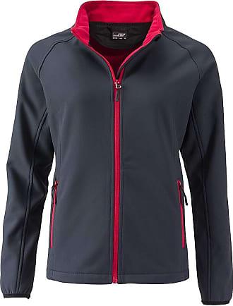 James & Nicholson Ladies Softshell Jacket and Leisure (S, Iron-Grey/red)