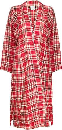 Forte_Forte tartan oversized coat - Red