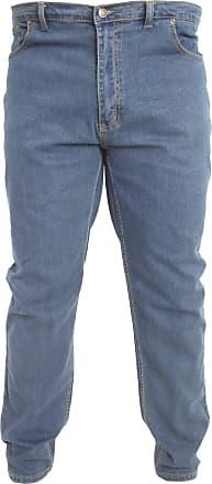 Duke London Duke Mens Rockford Carlos Kingsize Stretch Jeans (48S) (Stonewash)