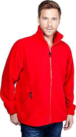 Uneek Clothing Mens Premium Full Zip Fleece Jacket Small Red