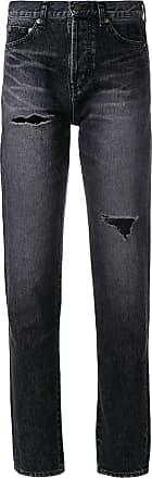 Saint Laurent distressed effect tapered jeans - Black