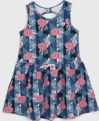 Milon Vestido Milon Infantil Flores Azul/Rosa