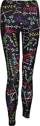 Insanity Maths Formulas Blackboard Design Printed Back to School Pants Leggings (L/XL (16-18))