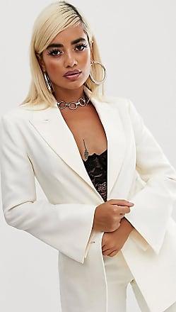 Asos Petite ASOS DESIGN Petite - Pop - Taillierter Anzugblazer in Elfenbein-Weiß