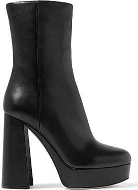 Miu Miu Miu Miu Woman Leather Platform Ankle Boots Black Size 41 38a0846b6c