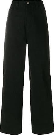 Koché stripe detail straight leg jeans - Preto