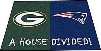 Fanmats 22660 NFL-Packers-Patriots House Divided Rug
