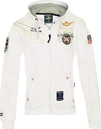 Geographical Norway Faero special mens hoodie jacket - White - XXL