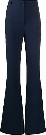 Hebe Studio Calça flare cintura alta - Azul