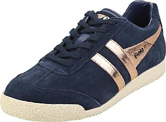 Gola Womens Harrier Mirror Plimsoll Trainers Navy/Rose Gold 8 UK