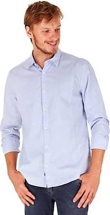 SideWalk Camisa Micro Xadrez - Azul Claro - Tamanho G
