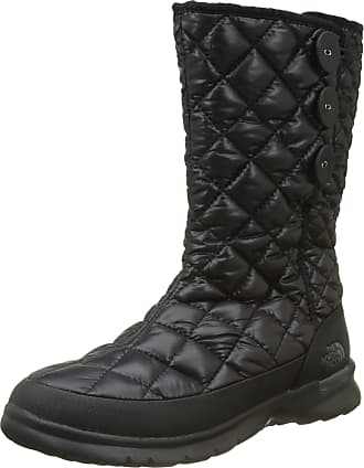 The North Face Womens Thermoball Button-Up Insulated Snow Boots, Black (Shiny TNF Black/Smoked Pearl Grey NSX), 4 (37 EU)