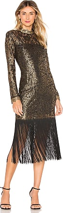 Rachel Zoe Hunter Dress in Metallic Gold