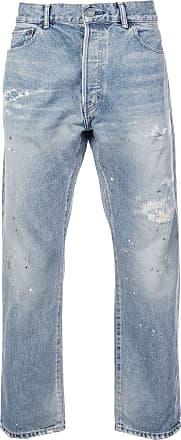 John Elliott + Co Painter Repair straight jeans - Azul