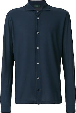 Zanone Camisa mangas longas - Azul