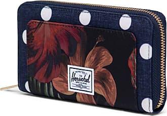 Herschel Herschel Thomas Wallet Polka Dot Crosshatch Peacoat/Tropical Hibiscus