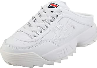 Fila Disruptor 2 Womens Mule Trainers in White Navy Red - 3 UK
