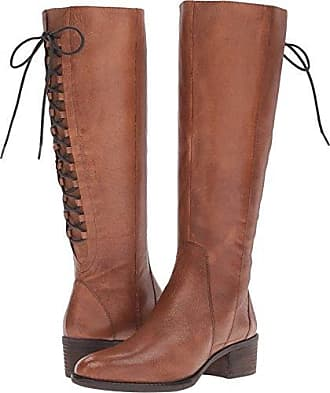 77871b0a90a Steve Madden Womens Laceupp Western Boot Cognac Leather 7.5 M US