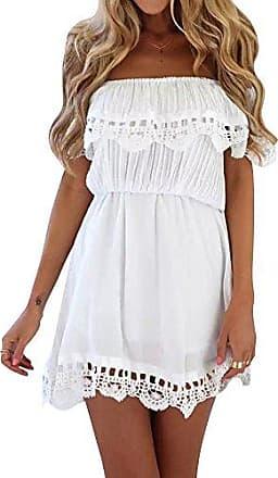 check out ad21b 3f1a6 Schulterfreie Kleider in Weiß: 170 Produkte bis zu −70 ...