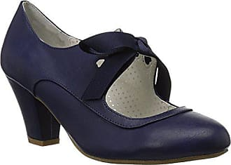 Higher-Heels Pinup Couture Damen Mary Janes Wiggle-32 Marineblau Gr.41, 3dc77d6644