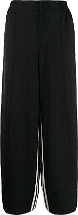 Yohji Yamamoto Calça esportiva com listras - Preto