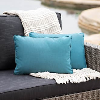 BEST SELLING HOME Coronado Outdoor Rectangular Water Resistant Pillow - Set of 2 Green - 300754