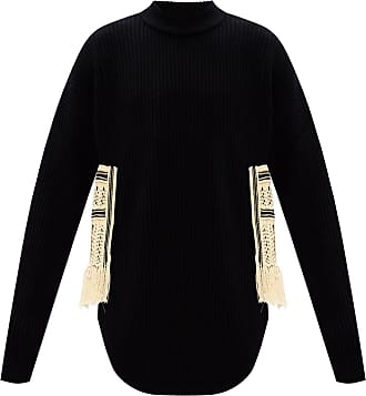 Jil Sander Sweater With Decorative Side Details Mens Black