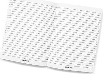 Brahmin Ruled Notebook Side-Bound 6x8 White Stationery