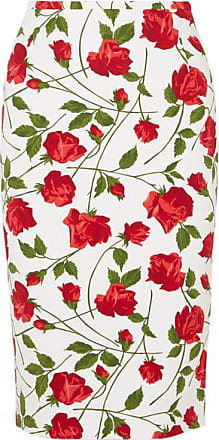 Michael Kors Rock Aus Cady Mit Blumenprint - Rot