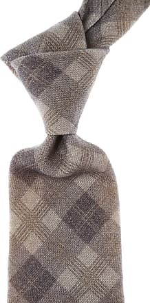 Kiton Ties On Sale, Taupe Melange, Wool, 2017, one size
