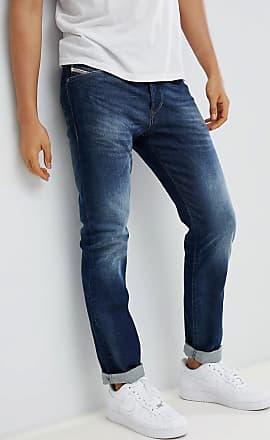 Diesel Buster - Jeans slim regular fit 853R scuri effetto usato-Blu