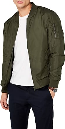 Urban Classics Mens Light Bomber Jacket, Weiß, Green, Medium