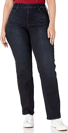 NYDJ Womens Plus Size Marilyn Straight Leg Jeans, Quentin, 14W