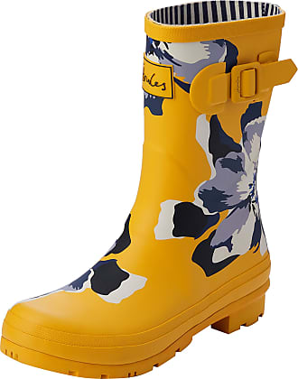 Joules Womens Molly Welly Wellington Boots, Gold (Gold Floral Gld Floral), 7 UK (40/41 EU)