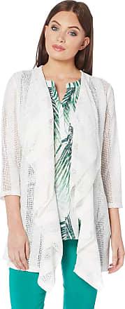 Roman Originals Women Double Layer Stripe Jacket - Ladies Casual Everyday Fashionable Clothing - White Jackets - Ivory - Size 10