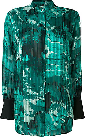 Victoria Beckham all-over print shirt - Green