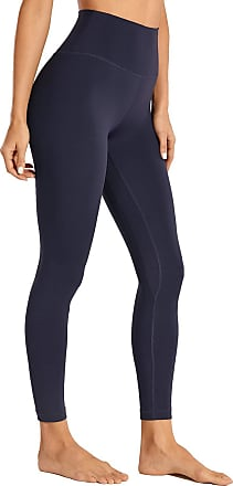 CRZ YOGA Womens Naked Feeling I High Waist Yoga Pants Workout Leggings with Pocket-25 Inches Navy 16
